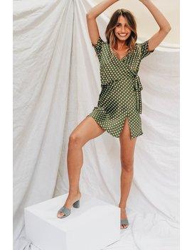 Her Philosophy Wrap Front Mini Dress by Vergegirl
