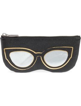 Cat Eye Sunnies Print Leather Pouch by Rebecca Minkoff