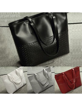 Large Women's Designer Leather Style Tote Shoulder Bag Satchel Ladies Handbag by Ebay Seller