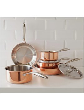 Argos Home 5 Piece Non Stick Copper Pan Set by Argos