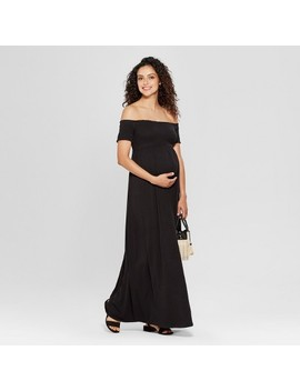 Maternity Smocked Maxi Dress   Isabel Maternity By Ingrid & Isabel™ Black by Shop All Isabel Maternity By Ingrid & Isabel