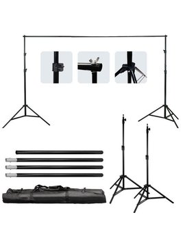 Ktaxon 10ft Adjustable Background Support Stand Photography Video Backdrop Kit Black by Ktaxon
