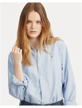Cotton Oxford Big Shirt by Ralph Lauren