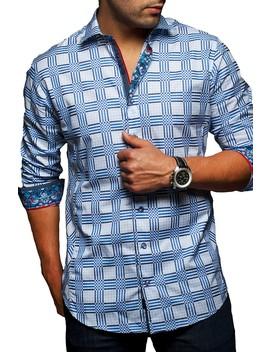 Rotan Plaid Slim Modern Fit Shirt by Au Noir
