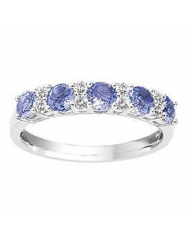 Round Tanzanite And Diamond Ring (0.15 Ctw) by Costco