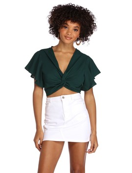 Twisted Feels Cropped Blouse by Windsor