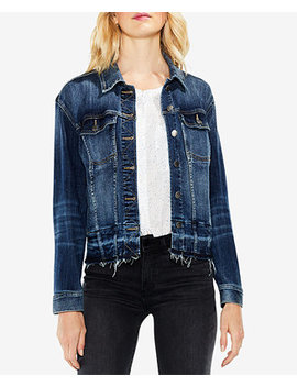 Released Hem Denim Jacket by Vince Camuto