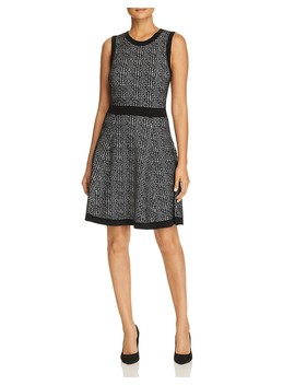 Sleeveless Plaid Sweater Dress by Kate Spade New York