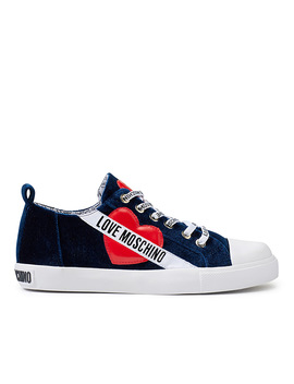 Romantic Blue Sneakers Women by Love Moschino