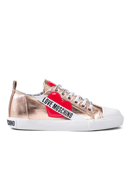 Romantic Rose Gold Sneakers Women by Love Moschino