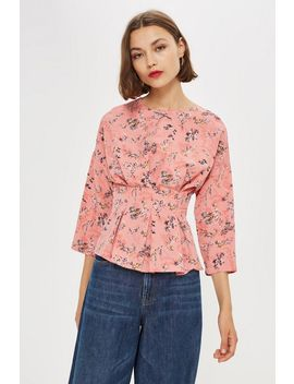 Ditsy Floral Tuck Waist Top by Topshop