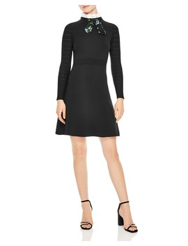 Clémence Tie Neck A Line Dress by Sandro