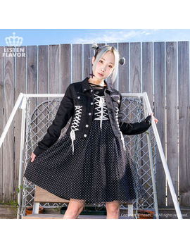 Angel Heart Lace Up Jacket [Black] Listen Flavor Harajuku Kawaii by Listen Flavor