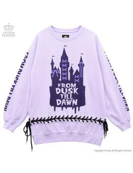Dreamy Castle Lace Up Pullover [Lavender] Listen Flavor Harajuku Kawaii by Listen Flavor