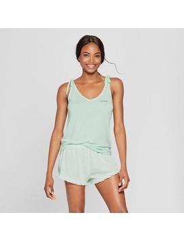 Women's Tank Top And Ruffle Shorts Pajama Set   Xhilaration™ Mint by Shop All Xhilaration™