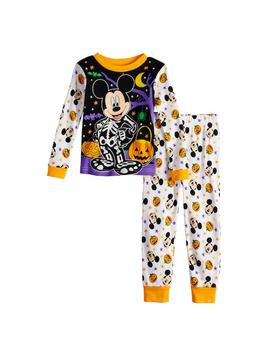 Disney's Mickey Mouse Toddler Boy Glow In The Dark Halloween Top &Amp; Bottoms Pajama Set by Kohl's