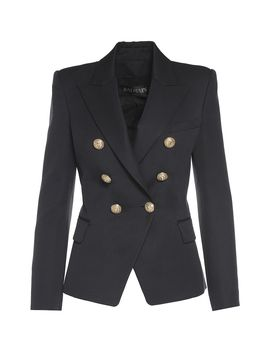 Balmain Double Breasted Wool Blazer by Balmain