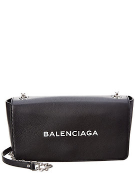 Balenciaga Logo Chain Strap Leather Shoulder Bag by Balenciaga