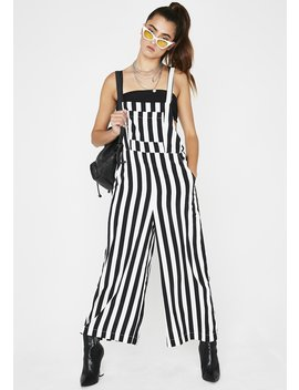 Barely Legal Stripe Overalls by Skylar Madison