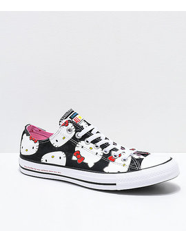 Converse X Hello Kitty Chuck Taylor Black & White Shoes by Converse