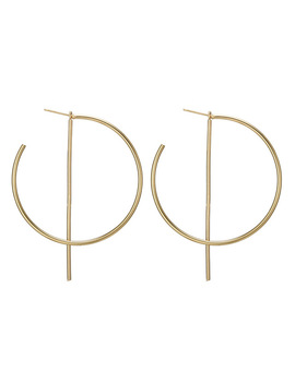 New Fashion Hiphop Big Round Hoop Earrings For Ladies Metal Wedding Party Jewelry 2018 Women Huggie Circle Earrings Accessories by Crazy Feng