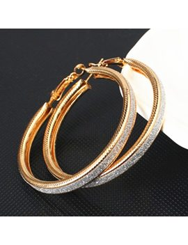 Vintage Gold Color Big Circle Hoop Earrings For Women Steampunk Ear Clip Party Jewelry Accessories Gift  E047 by Zhenshecai