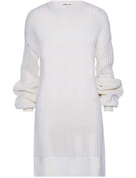 Open Knit Wool Mini Dress by Mc Q Alexander Mc Queen