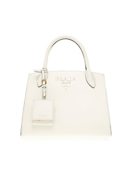 Textured Leather Tote by Prada