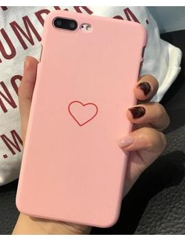 Cute Pink Black Love Lovers Pc Hard Plastic Phone Case Cover Fundas Coque For Iphone 6 S 7 7 Plus 6 S 6 Plus 8 8 Plus X 5 S 5 S Se by Imido