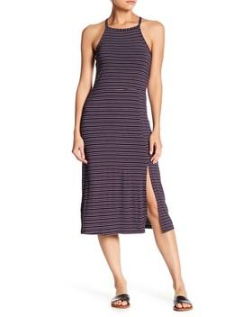 Square Neck Stripe Midi Dress by Ten Sixty Sherman
