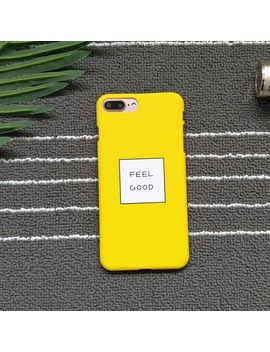 Strollife Letters Feel Good Phone Cases For I Phone 8 Cases Slim Cute Candy Color Hard Cover Coque For Iphone X 6 S 7 8 Plus 5 Case by Strollife