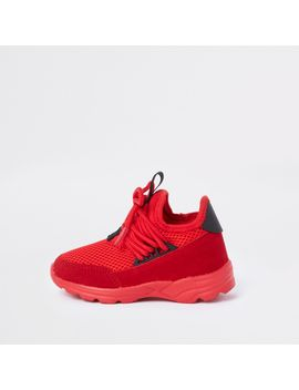 Mini Kids Red Runner Sneakers by River Island