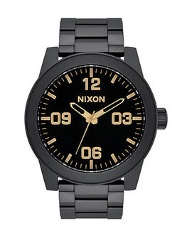 Corporal Stainless Steel Analog Bracelet Watch by Nixon