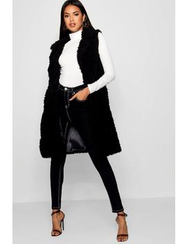Shaggy Faux Fur Gilet by Boohoo