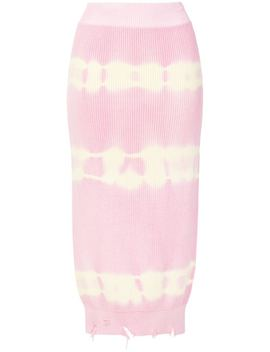 Tie Dye Rib Knit Skirt by Msgm