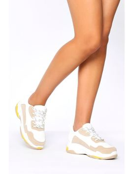 White/Cream Chunky Trainers by I Saw It First