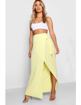 Plus Wrap Maxi Skirt by Boohoo