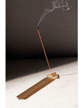 Stone Harvest Etched Metal Diamond Incense Holder by Stone Harvest