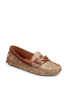 Crosby Driver Signature Logo Loafers by Coach