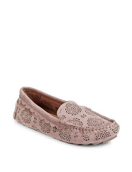 Crosby Driver Suede Flats by Coach