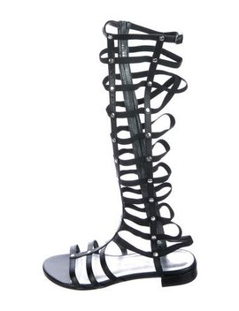 Stuart Weitzman Leather Gladiator Sandals by Stuart Weitzman