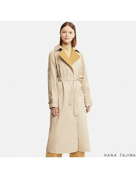 Women Hpj Belted Long Coat by Uniqlo