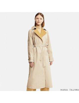 Women Hpj Belted Long Coat by Uniqlo
