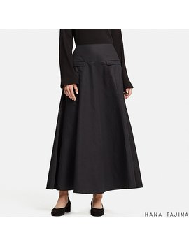 Women Hpj Flared Long Skirt by Uniqlo
