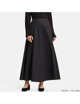 Women Hpj Flared Long Skirt by Uniqlo