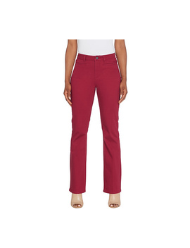 Susan Graver Regular Stretch Twill Mini Boot Cut Pants by Qvc