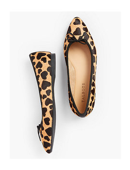 Poppy Ballet Flats   Haircalf Heart Design by Talbots