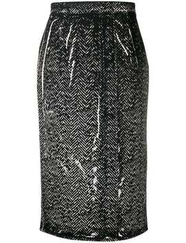 Fitted Pencil Skirt by Prada
