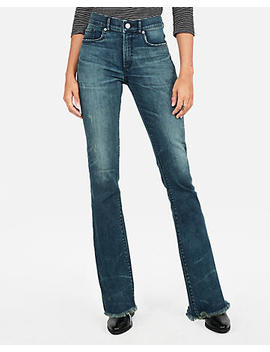 High Waisted Denim Perfect Stretch+ Barely Boot Jeans by Express
