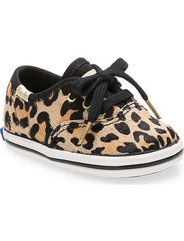 Keds X Kate Spade New York Calf Hair Champion Crib Leopard Sneaker by Keds